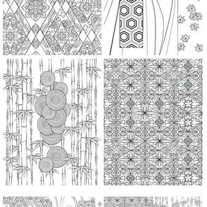 Japanese Textile Panels 2