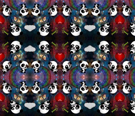 Cosmic Panda fabric by citivacreationz on Spoonflower - custom fabric