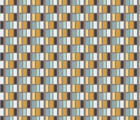 Unbasic Blocks in Greige, Mustard and Teal fabric by charissapray on Spoonflower - custom fabric
