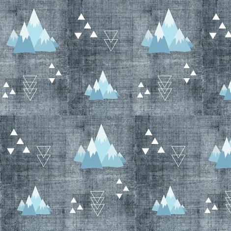 Peaked fabric by buckwoodsdesignco on Spoonflower - custom fabric