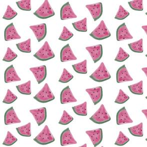 Watermelon watercolor, fruit, summer, juicy, pink, bright,
