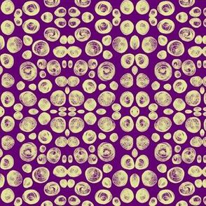 Seashell Mosaic on Violet - Medium Scale