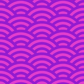 bright fuchsia waves
