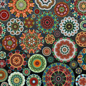 Flower Kaleidoscope Large Design Gradient