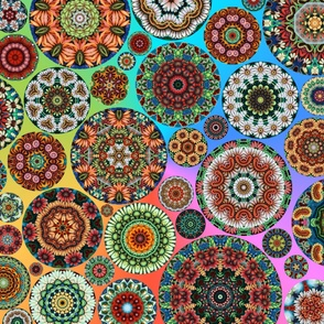 Flower Kaleidoscope Large Design Rainbow
