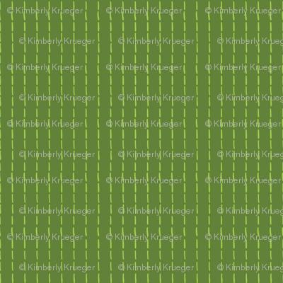 Needlework Stripe Green