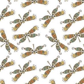 boho butterflies -green/orange