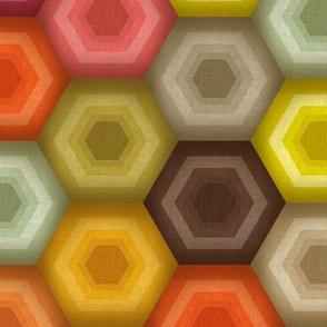 crochet honeycomb retro