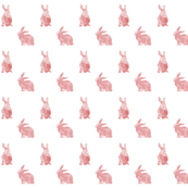 Pink Bunnies Watercolour Wallpaper