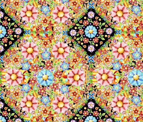 Millefiori Gypsy Boho  fabric by patriciasheadesigns on Spoonflower - custom fabric