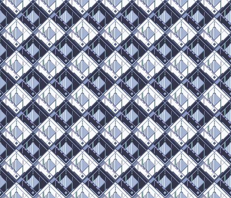 Disco Shirt Pattern Blue Navy 01-ed fabric by mazeman on Spoonflower - custom fabric