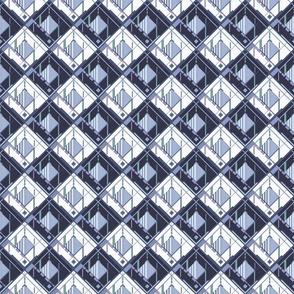 Disco Shirt Pattern Blue Navy 01-ed
