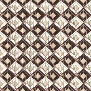 Disco Shirt Pattern Brown Beige 01-ed