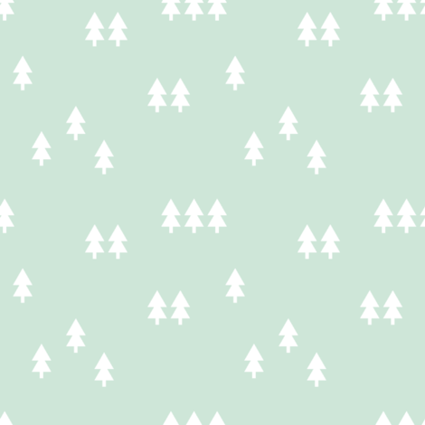 trees || mint fabric by littlearrowdesign on Spoonflower - custom fabric
