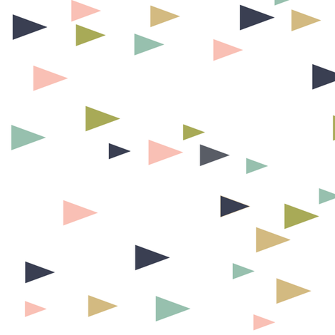 triangles (90) // a little girly fabric by littlearrowdesign on Spoonflower - custom fabric