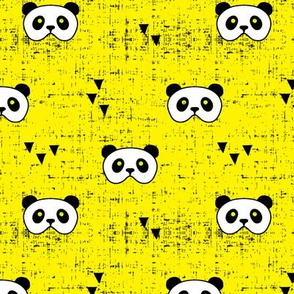 panda mask || yellow