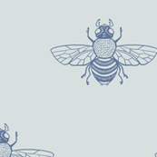 BEE_Blue_on_SeaFog_Wide_Spaced