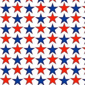 Red and Blue Itty Bitty Stars