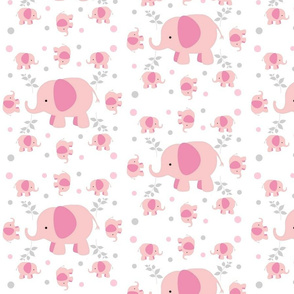Pink Elephants Garden- gray pink