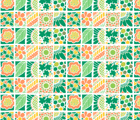 Blossom: Flowers In Boxes fabric by tallulahdahling on Spoonflower - custom fabric