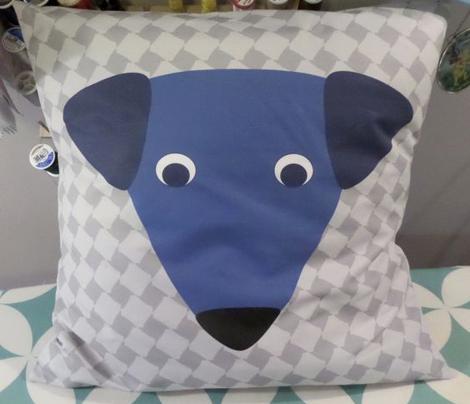 Little Blue Dogs- Little Blue Dog Pillow Kit