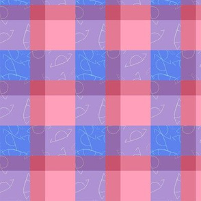 Asymmetrical Plaid: Blue and Pink