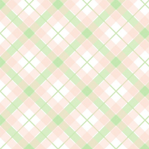 Picnic Plaid Soft Peach and Green