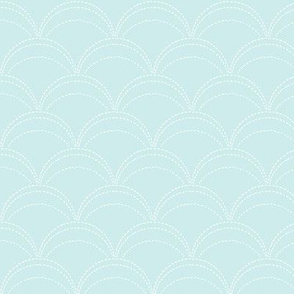 small wave stitch pale sky blue