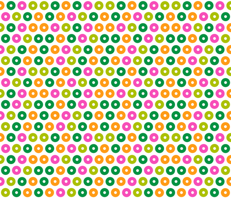 Green/Pink/Orange Zeros fabric by chantal_pare on Spoonflower - custom fabric