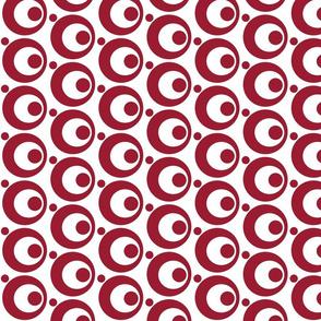 Circle & Dots Lipstick Red