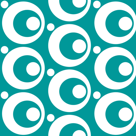Circle & Dots Turquoise fabric by adinamayo on Spoonflower - custom fabric