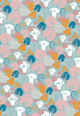 Abstract Floral blue