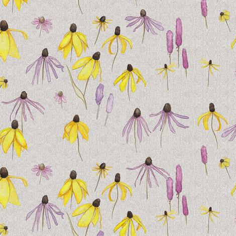 Prairie Wildflowers fabric by mariden on Spoonflower - custom fabric