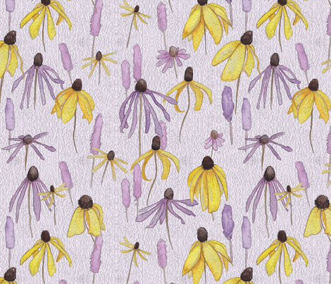 Purple Prairie Floral fabric by mariden on Spoonflower - custom fabric
