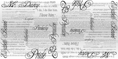 Pride & Prejudice Text (Bi-Directional Gradient)