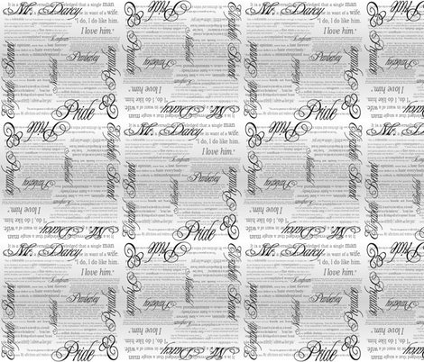 Pride & Prejudice Text (Bi-Directional Gradient) fabric by esheepdesigns on Spoonflower - custom fabric