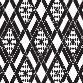 Black & White Argyle