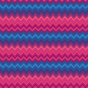 Red and Blue Zig Zag Pattern