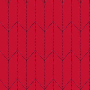 maritime stitch red and navy