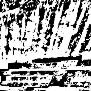 Black & white graphic primal city