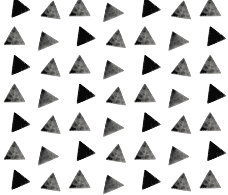 Watercolor triangles - monochrome, geometric, black and white triangles, modern print    by sunny afternoon fabric by sunny_afternoon on Spoonflower - custom fabric