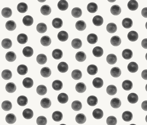 Watercolor dots - black, monochrome, geo    by sunny afternoon fabric by sunny_afternoon on Spoonflower - custom fabric