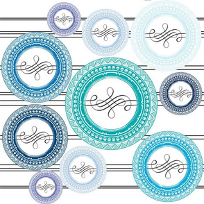 Flourish Circle Blue