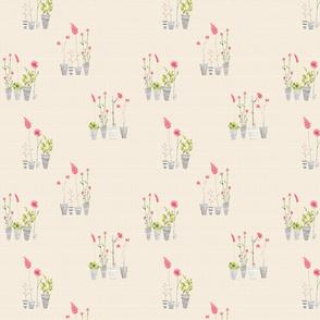 flowerspot littleflower beige