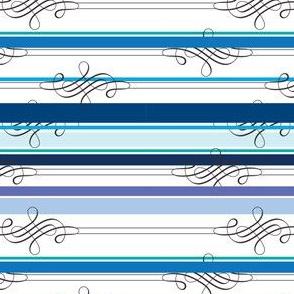 Flourish Blue Stripe