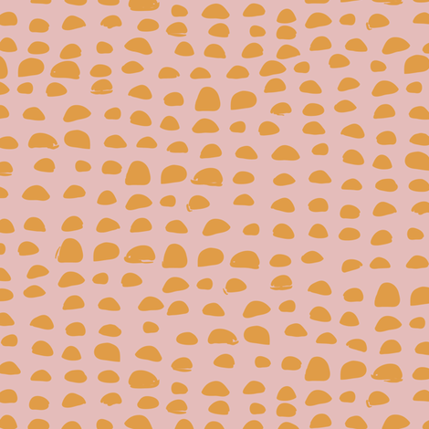 Pebbles in pink fabric by lburleighdesigns on Spoonflower - custom fabric
