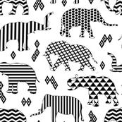Geo Pattern Elephants