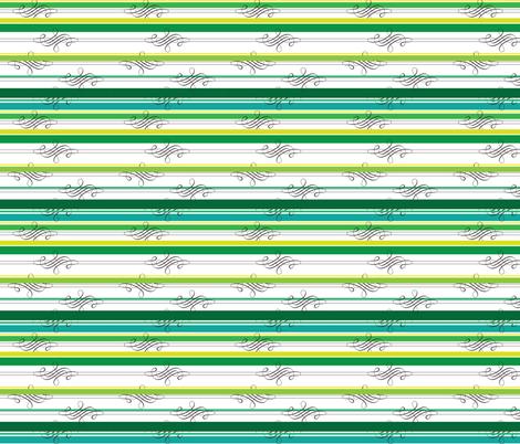 Flourish Green Stripe fabric by adinamayo on Spoonflower - custom fabric