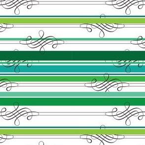 Flourish Green Stripe