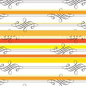 Flourish Yellow Stripe